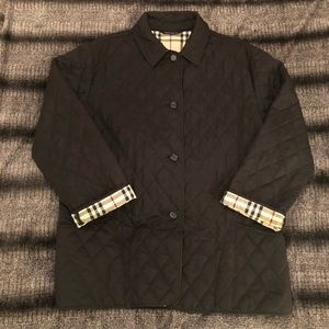 EUC Classic Burberry Quilted Jacket in size L.